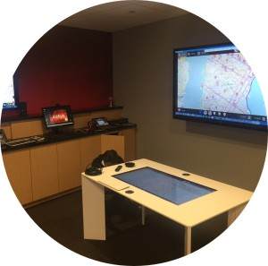 The Tavolo® by Beta 80 is on display at Avaya Public Safety and Emergency CAD technology