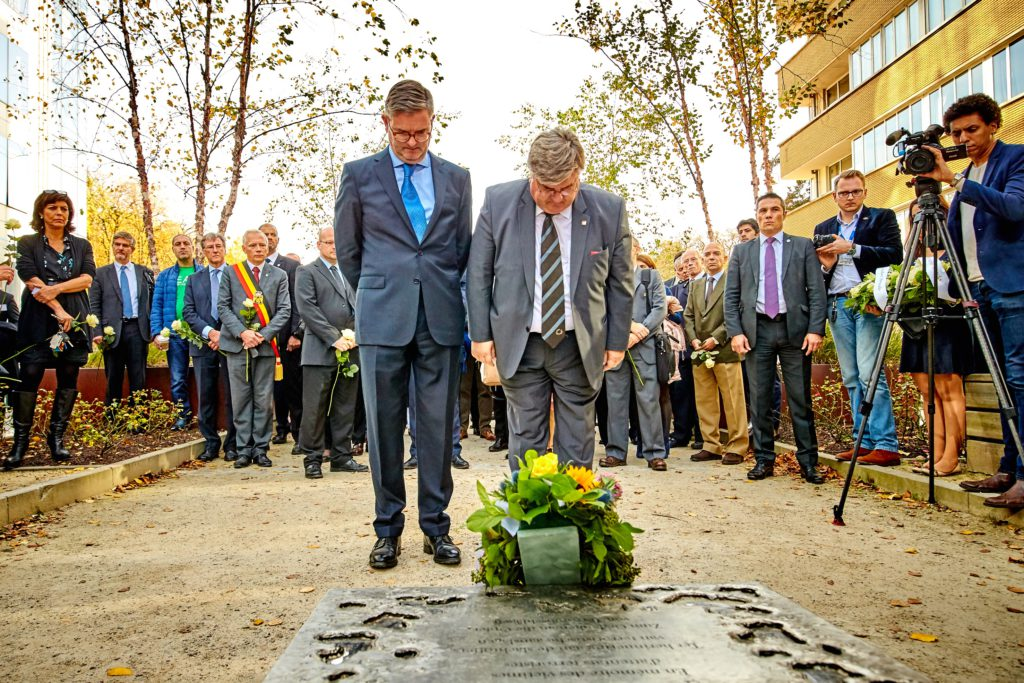 Tribute in Brussells for victims of terrorism and public safety and emergency service professionals