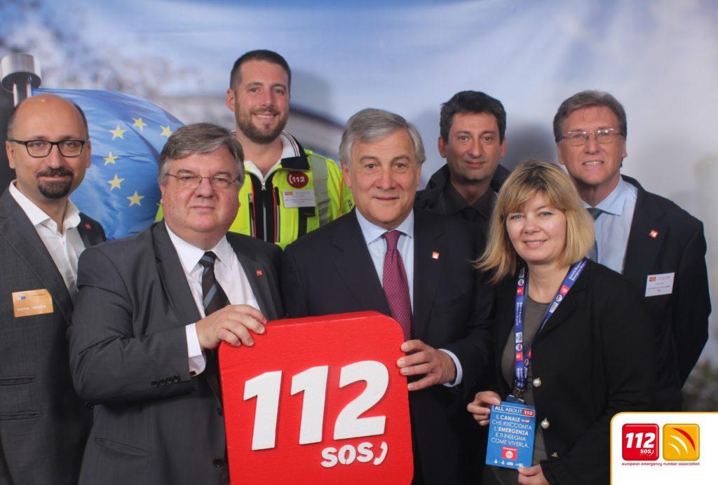 Antonio Tajani President of European Parliament meets Beta 80 representatives in Public Safety
